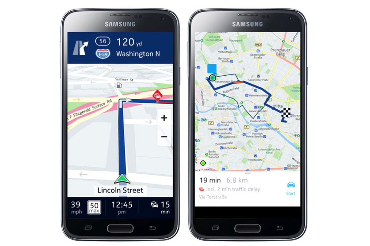 Google Maps May Be One Of The Undeniable Strengths Android Platform However Samsung Has Decided To Offer An Alternative In Form Nokias Here