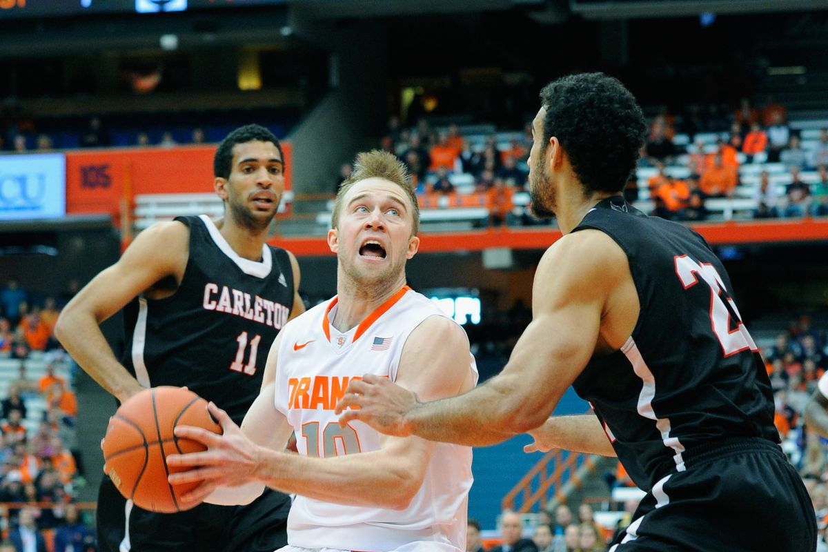 Syracuse Basketball Schedules Carleton For October 29