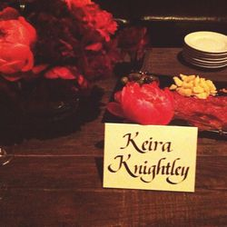 <i>Chanello</i> Keira Knightley! Veronique and I avoid the urge to sit at her table and eat from her charcuterie platter. Knightley looks charming from afar, obligingly posting for iPhone selfies. A group of small children crowd Adam Levine to do the same