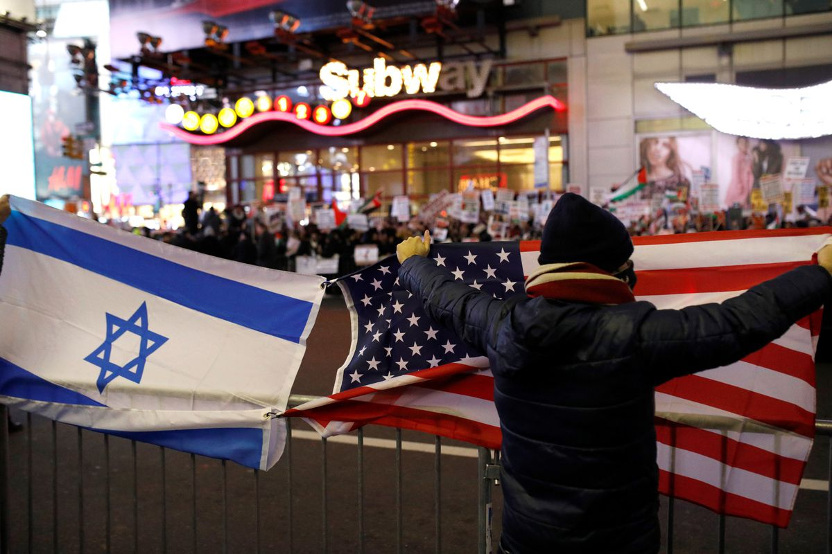 Apa Format Sample Essay Paper A Group Of Prous And Israelis Open Both American And Israeli Flags And  Catcall People Demonstrating Against President Donald Trumps Recognition  Of  High School Persuasive Essay also Essay Of Health What Is Zionism  Vox Sample Essays For High School Students