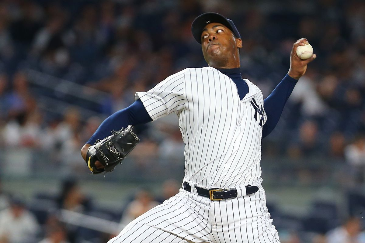 8773f4637 Cubs make it easier to win, harder to cheer for them with Aroldis Chapman  trade