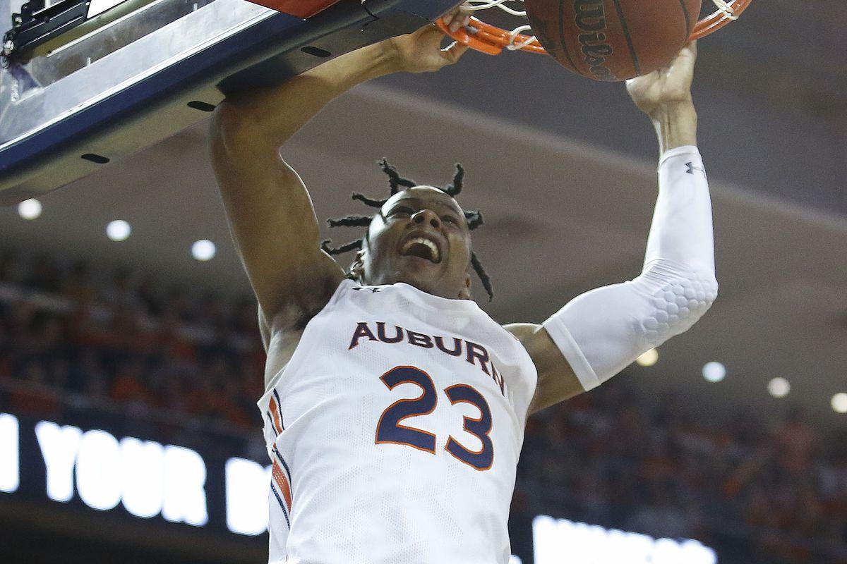 Auburn Tigers foward Isaac Okoro shoots against the Alabama Crimson Tide during the second half at Auburn Arena.