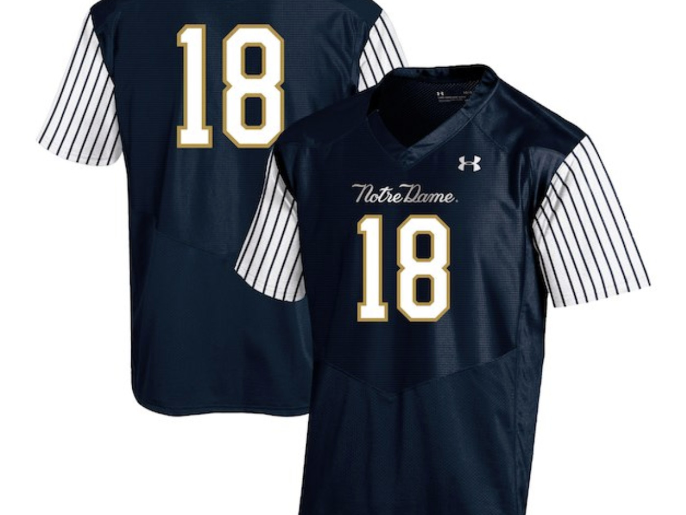 15c9e7c7e58 Notre Dame's Yankees-themed alternate uniforms are sure to be polarizing.  New ...