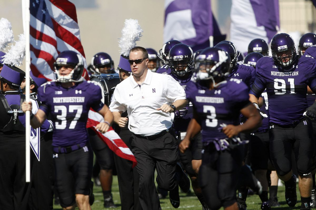Pat Fitzgerald and Northwestern: Standing for America, Academics, and (last year) beating the SEC.