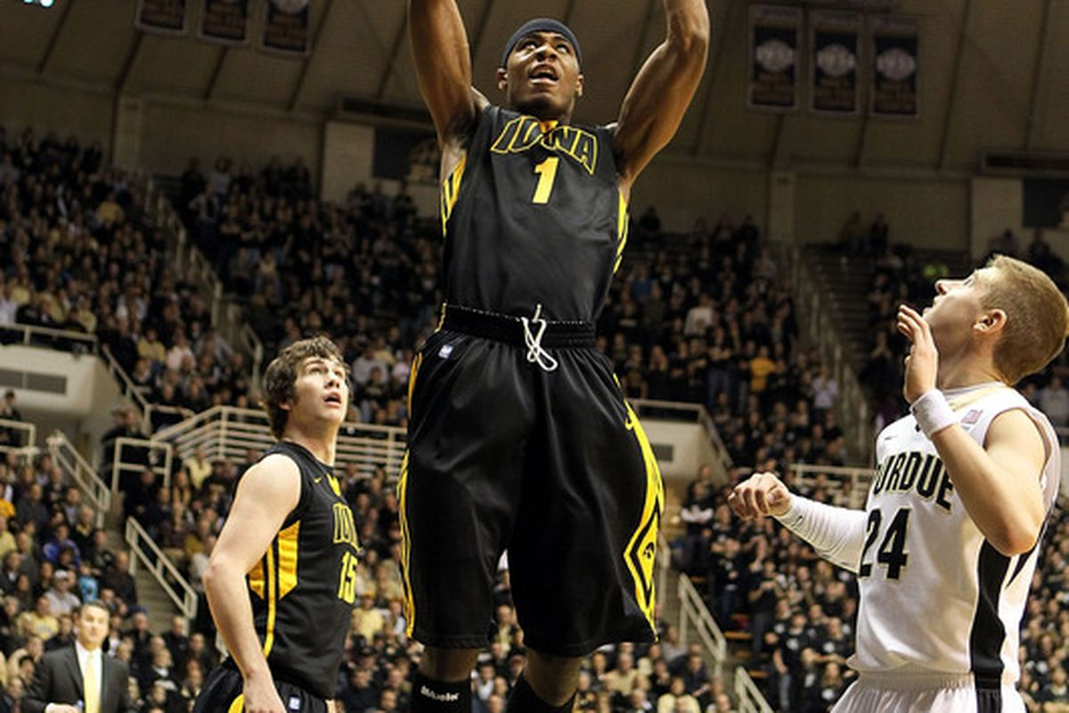 Freshman Melsahn Basabe hopes to have a huge game on Iowa's Senior Day. Basabe also acknowledges that the previous sentence is fairly oxymoronic. (Photo by Andy Lyons/Getty Images)