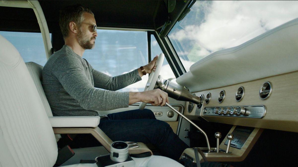Man in drivers seat