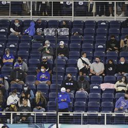 Fans are distanced during the Boca Raton Bowl in Boca Raton, Fla., on Tuesday, Dec. 22, 2020.