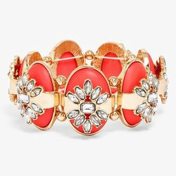 Smokey Dame Embellished Stretch Bracelet, $46