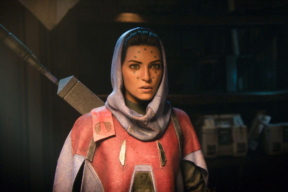 Destiny 2 - Suraya Hawthorne talking with the Vanguard