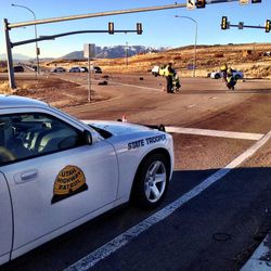Two cyclists were hit by a pickup and killed Wednesday morning