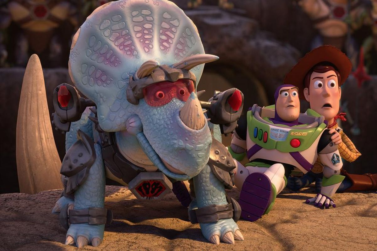 trixie the triceratops is the central figure of toy story that time forgot abc - Toy Story Christmas Special