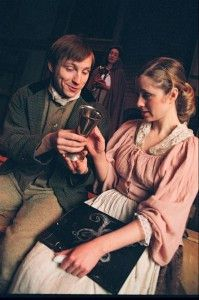 """Actress Erin Myers (seen her with Geoff Button) in the 2006 production of """"Johnny Tremain."""""""
