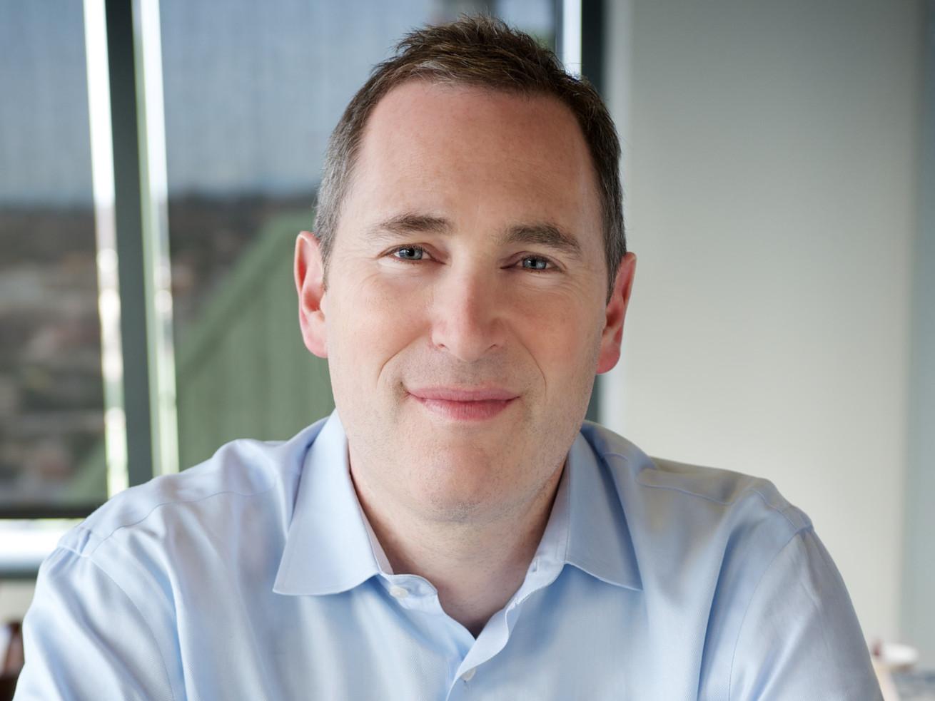 Headshot of Amazon Web Services CEO Andy Jassy.