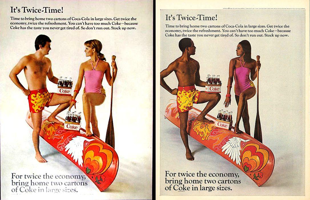 Multiple Coke ads from 1968.