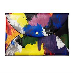 "Color Splash Leather Envelope Clutch, <a href=""http://www.saturday.com/Envelope-Clutch-in-Color-Splash/4IRU0149-3,en_US,pd.html?dwvar_4IRU0149-3_color=991&dwvar_4IRU0149-3_size=UNS&cgid=kss-gift-guide-prints-color-splash"">$80</a> at <b>Kate Spade Saturday"