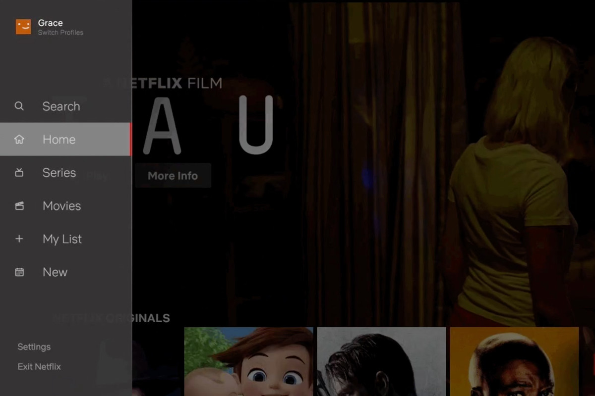 Netflix redesigns TV interface with new sidebar and separate