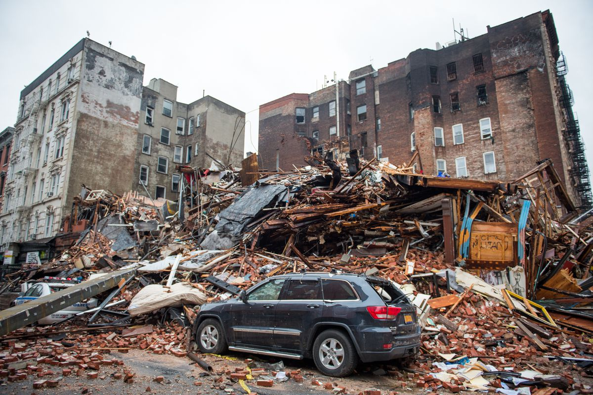 Day after explosion in the East Village