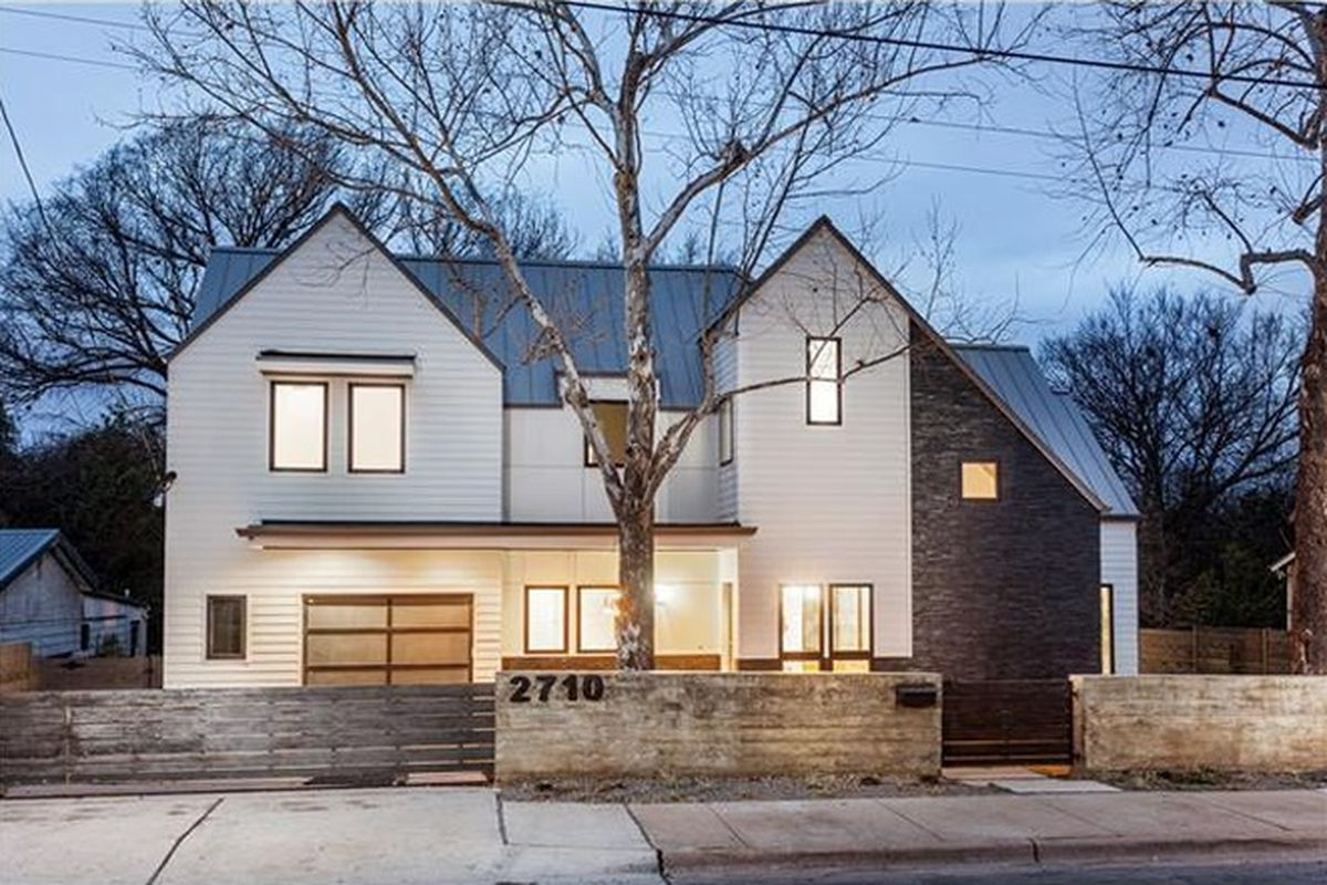 Large new home, two stories, white, modern farmhouse