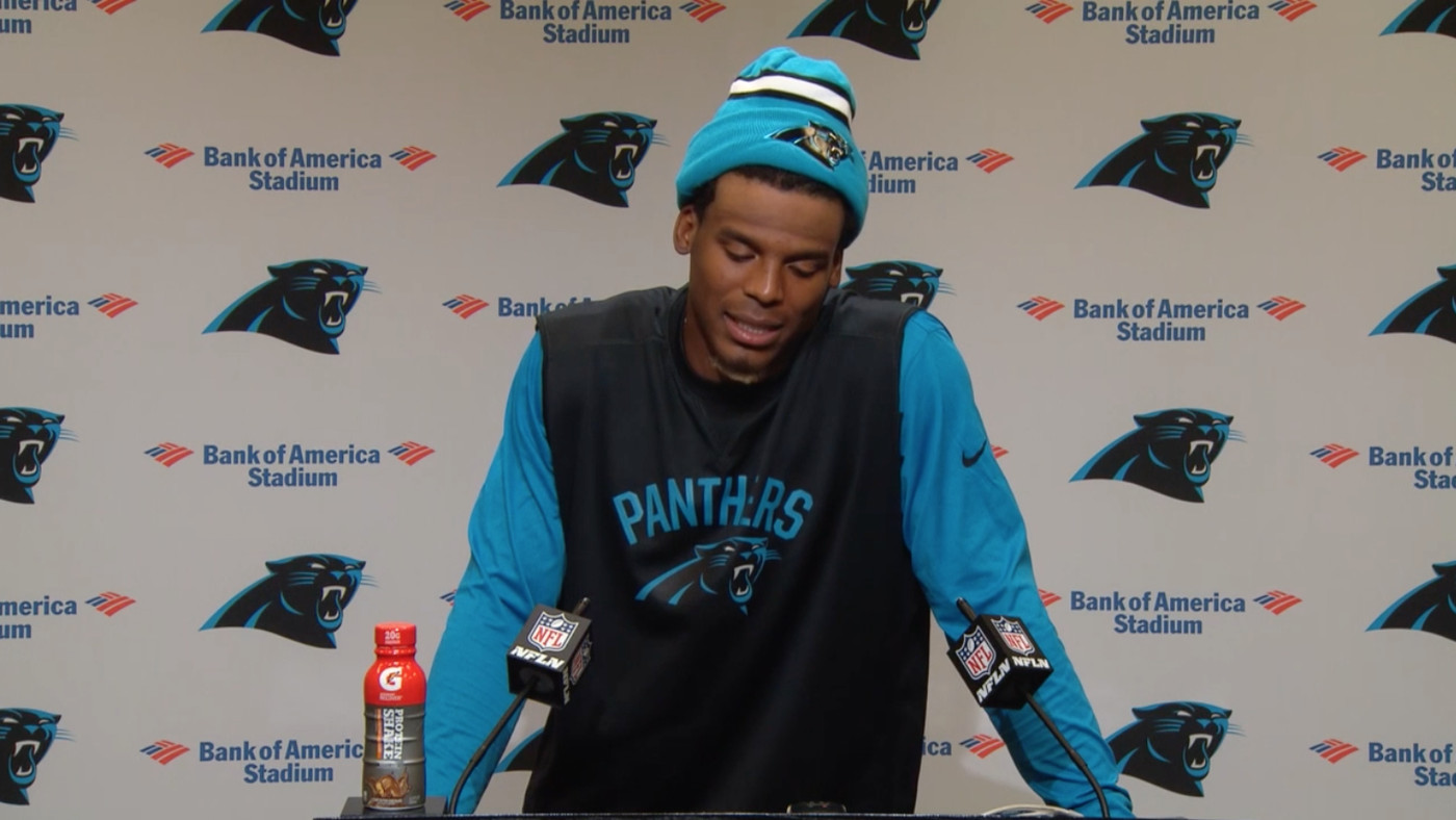 cheap for discount e18bf 4b36d Cam Newton thinks it's funny when a female reporter asks ...