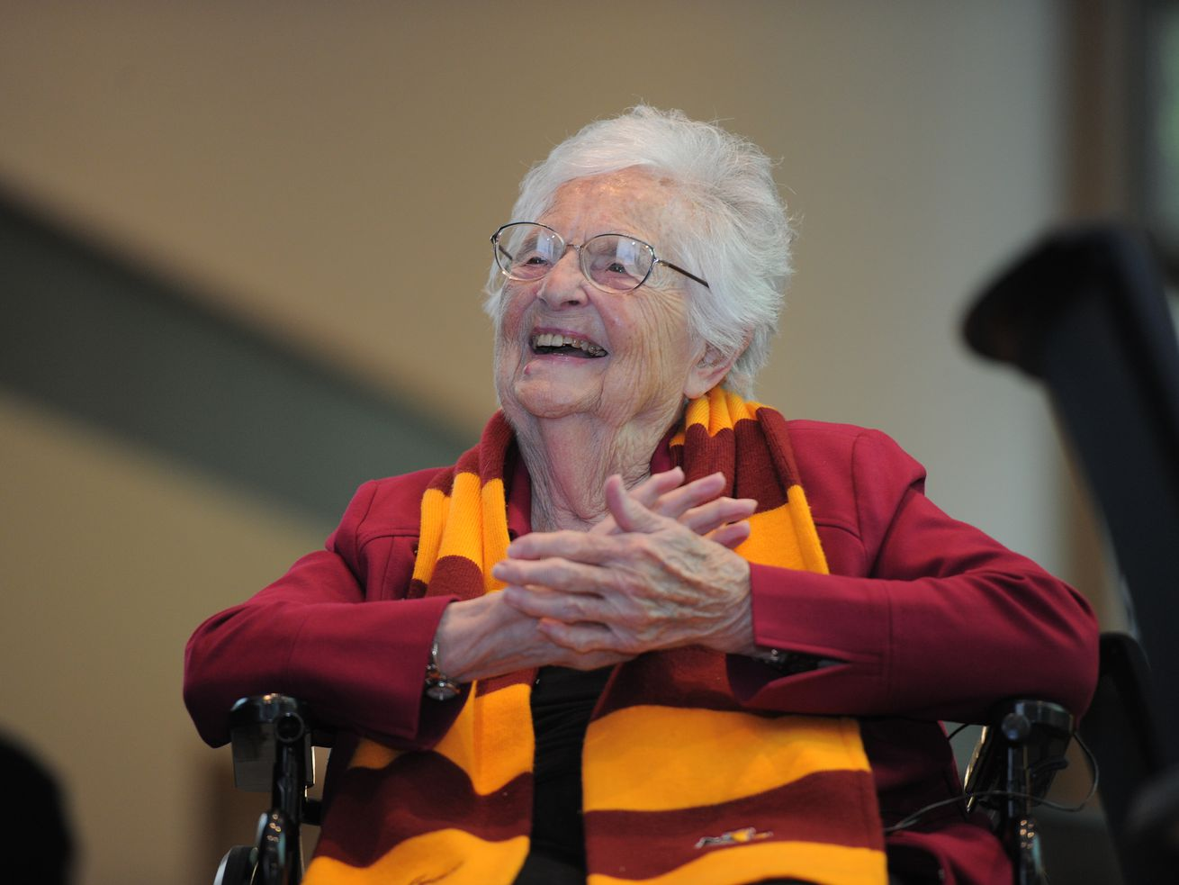 Sister Jean, pictured in 2019.