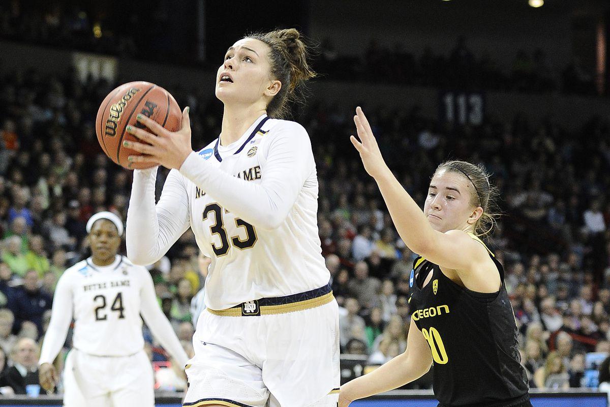 new concept 73601 c1609 NCAA Womens Basketball  NCAA Tournament-Spokane Regional-Oregon Ducks vs  Notre Dame Fighting