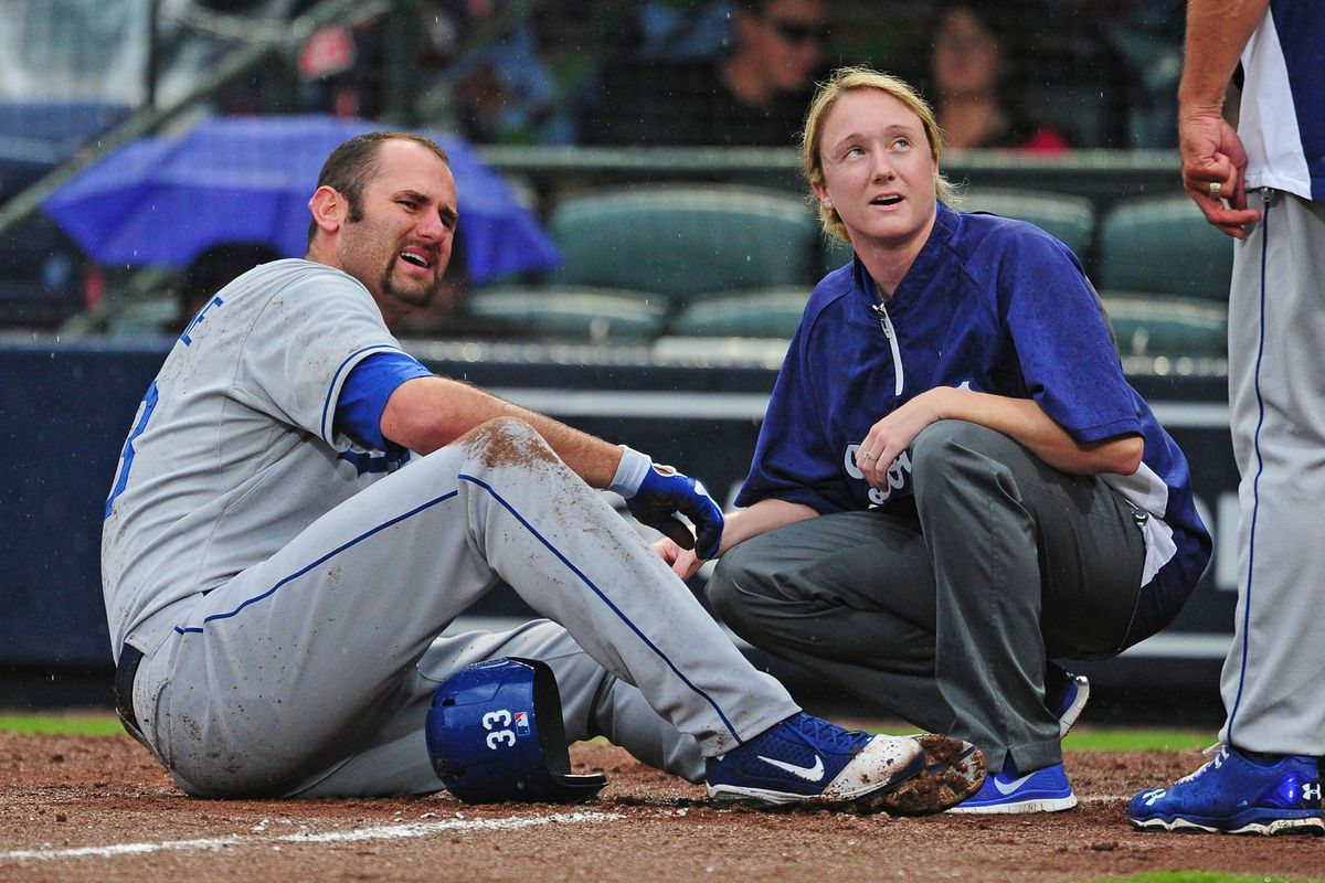 The rehabbing Scott Van Slyke went 1 for 4 with a single for the Quakes on Wednesday