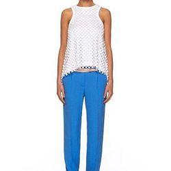 """<a href=""""http://www.dvf.com/New-Naples-Pant/S4947526A12,default,pd.html?dwvar_S4947526A12_color=BLUED&start=24&cgid=sale"""">New Naples Pants</a>,  $193.20 (were $345)"""