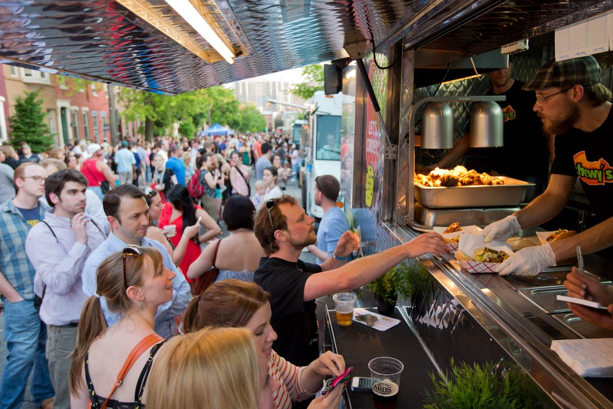 Chewy's serves the crowds at Night Market Fairmount.