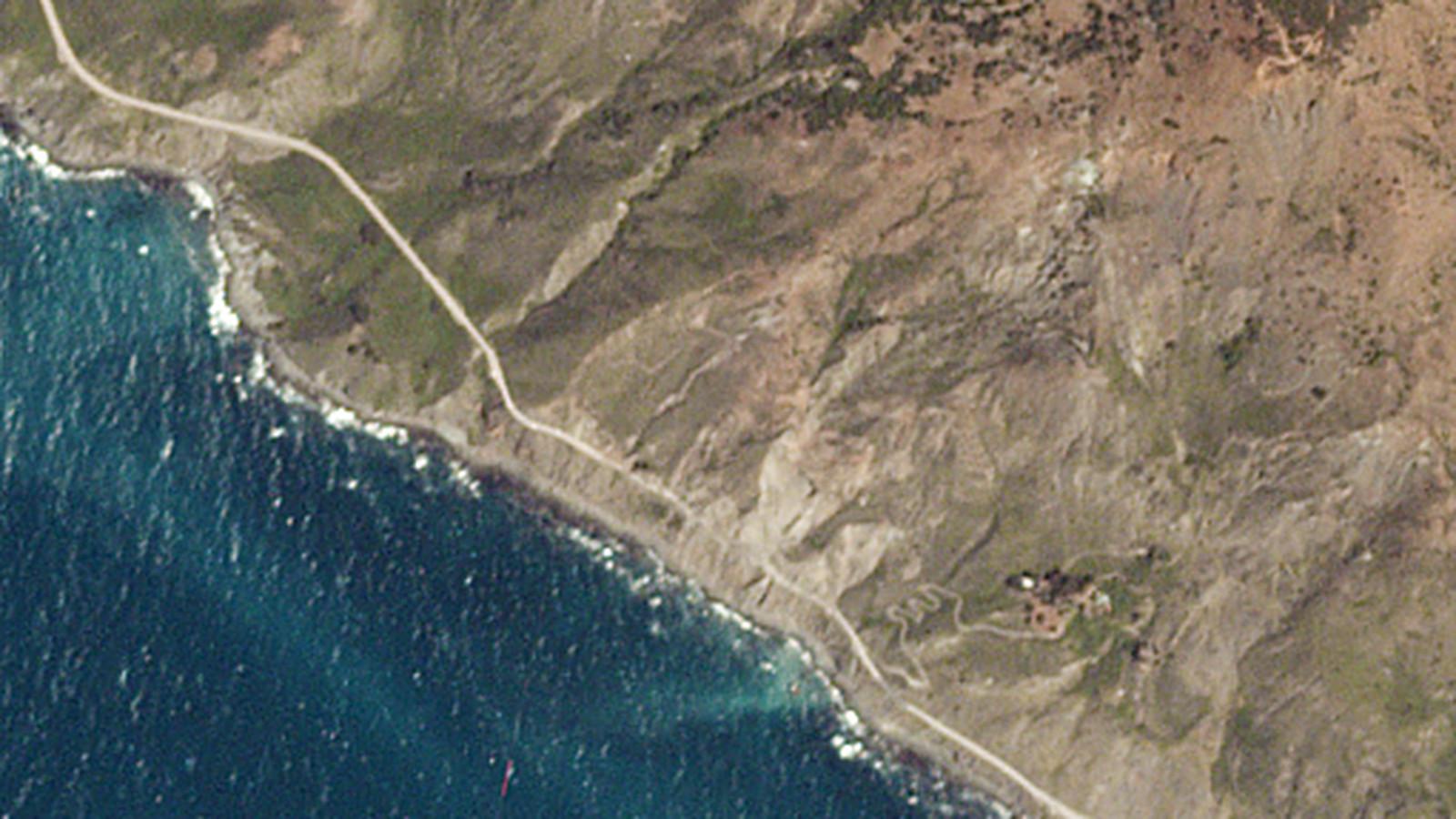 Big Sur Landslide On Highway 1 Satellite Photos Before