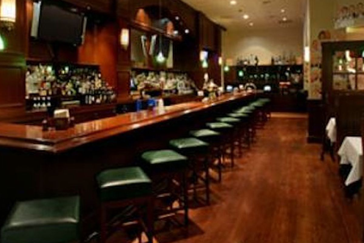 The bar at the Palms