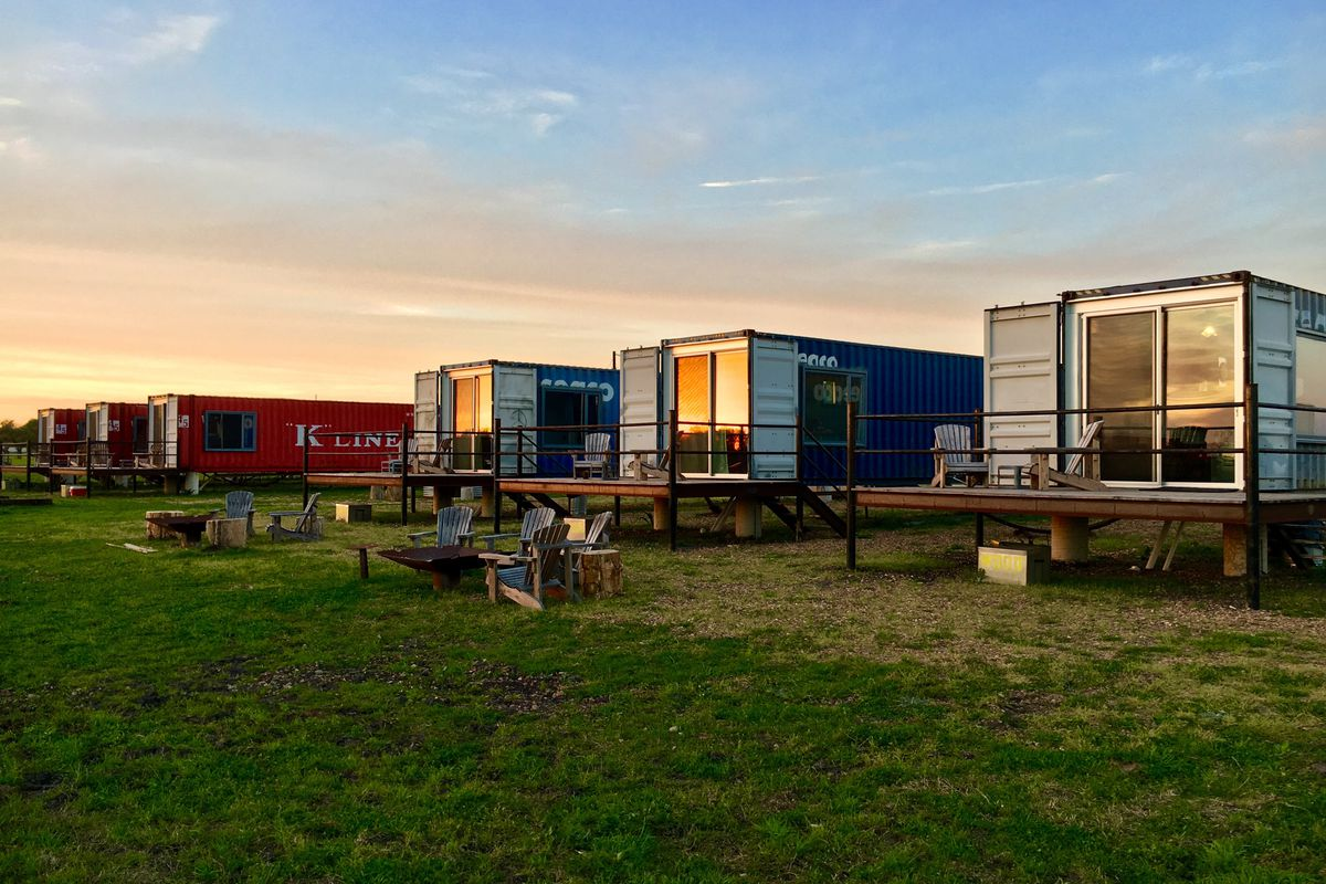 Shipping Container Hotel In Texas Lets You Try Out Tiny Living Curbed