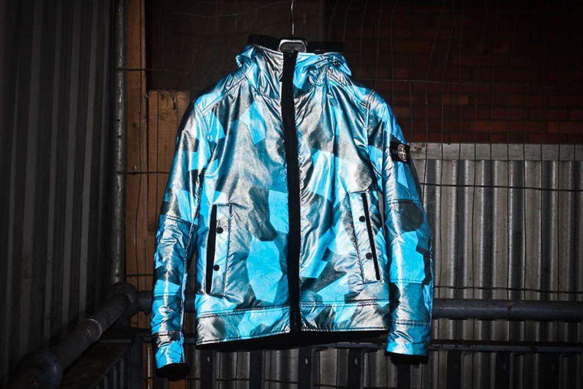 A Stone Island reflective jacket.