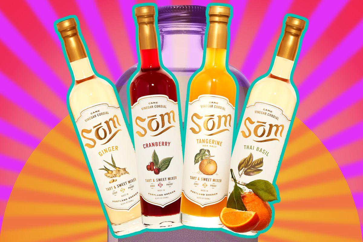 Four bottles of Pok Pok Som.