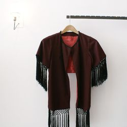 Loving this fringed number for the exhibit at A Current Affair's holiday show.