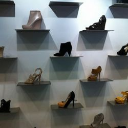 Ladies' shoes downstairs