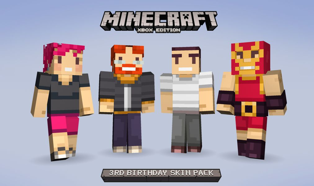 Free Minecraft skins hit Xbox to celebrate three years on ... | 1012 x 600 jpeg 57kB