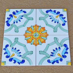 These tiles will adorn the wood fired oven that will serve as a focal point for the dining room.