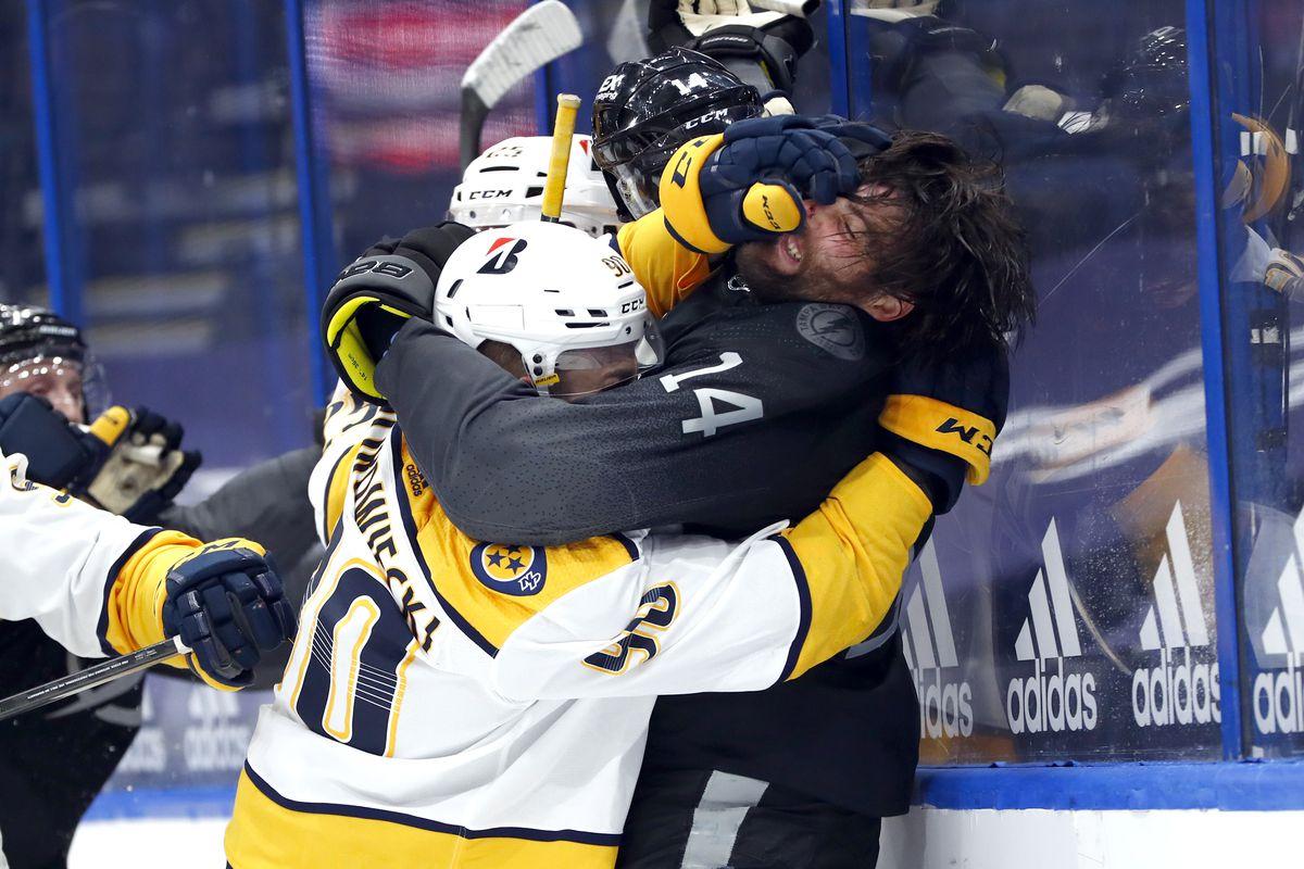 NHL: Nashville Predators at Tampa Bay Lightning