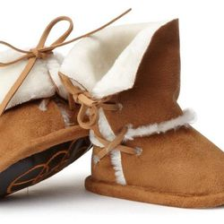 Baby boys infant faux-shearling bootie