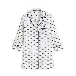 Bow tie sleepshirt, $78