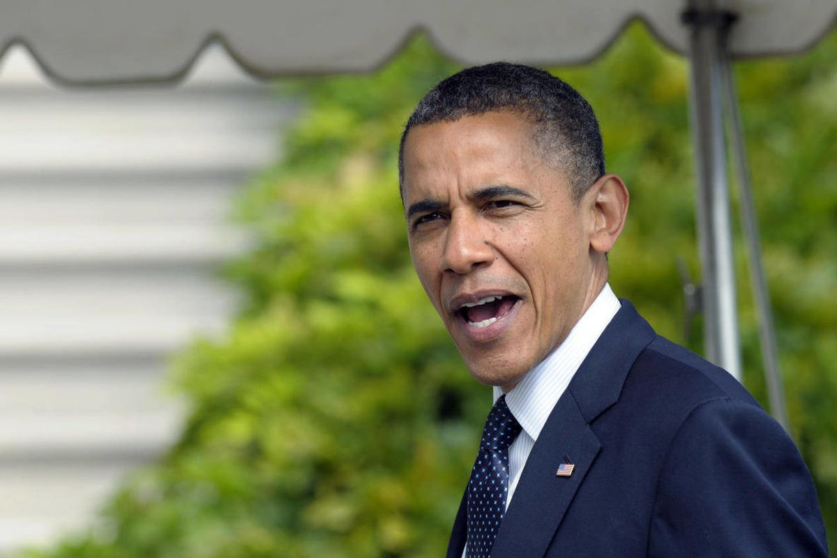 President Barack Obama answers a question as he returns to the the White House in Washington, Tuesday, Sept. 25, 2012.