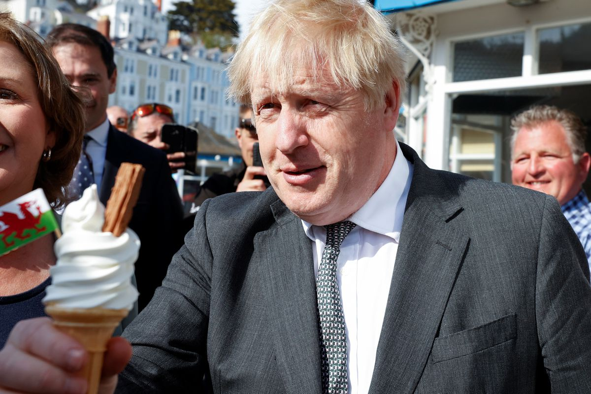 Boris Johnson Campaigns In Wales Ahead Of Elections