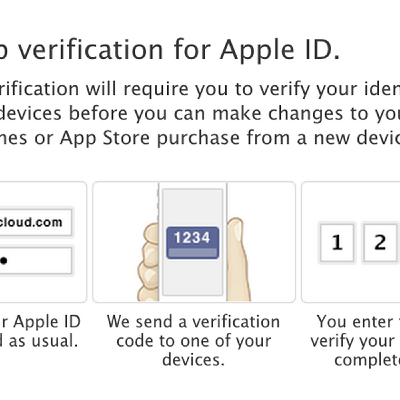 Apple introduces two step verification for Apple ID, iCloud ...
