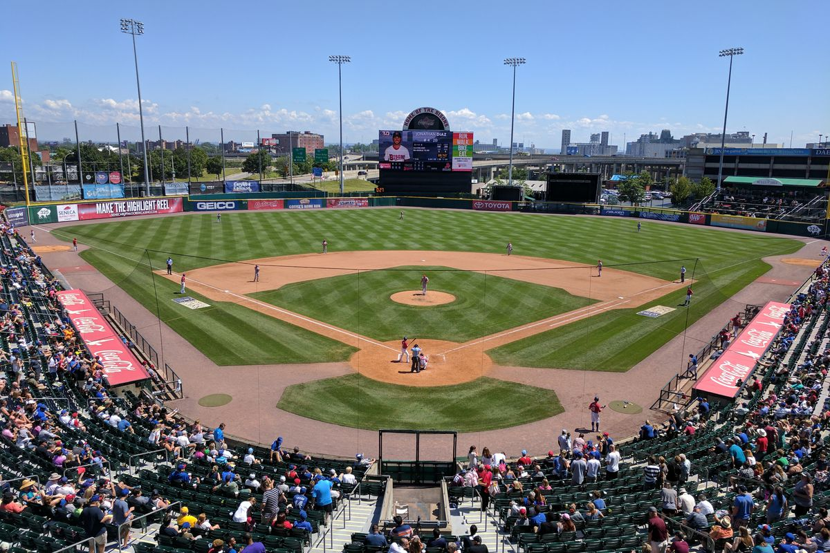 A Buffalo Bisons game at Sahlen Field (formerly Coca-Coal Field) in Buffalo, NY.