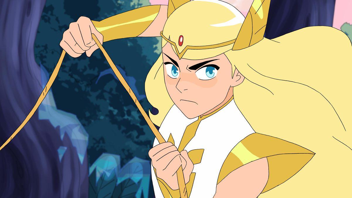 She-Ra, voiced by Aimee Carrero.