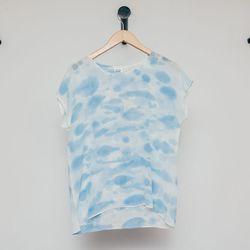 "Rachel Rose Silk Sky Tee, <a href=""http://shop.thistleclover.com/collections/tops/products/rachel-rose-silk-top"">$120</a>"