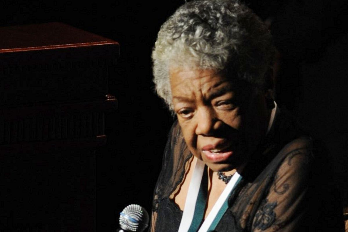 Poet and memoirist Maya Angelou, who died today at age 86.