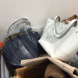 Leather bags, $130