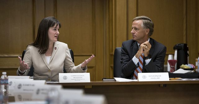 Education Commissioner Candice McQueen was one of Gov. Bill Haslam's most visible cabinet members.