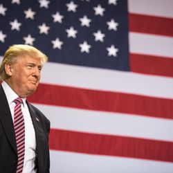 Republican presidential candidate Donald Trump attends a rally in Kissimmee, Fla., on Thursday, Aug. 11, 2016.
